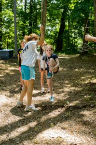 Counselor Teaching Low Ropes